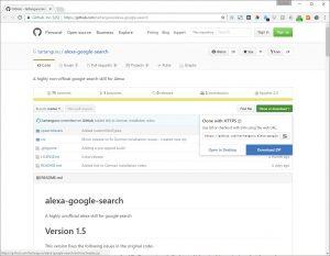 GitHub Alexa Google Skill