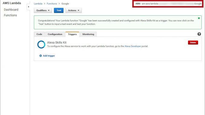 Amazon Alexa ARN Code