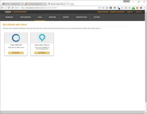 Amazon Developer Konsole