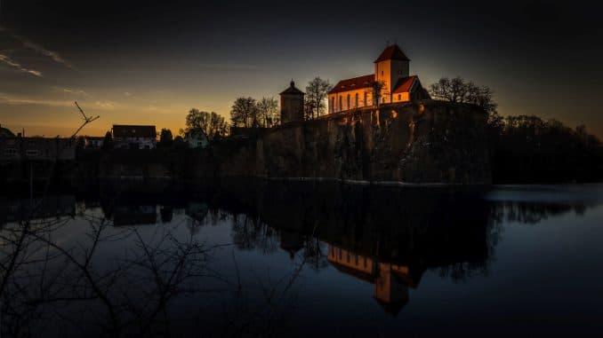 Bergkirche Beucha - Sonnenuntergang