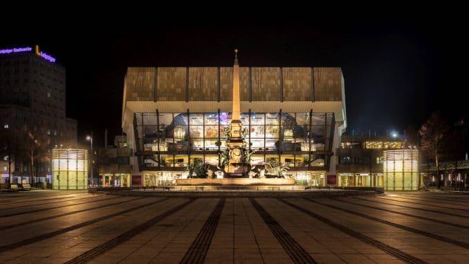 Langzeitbelichtung Gewandhaus Leipzig